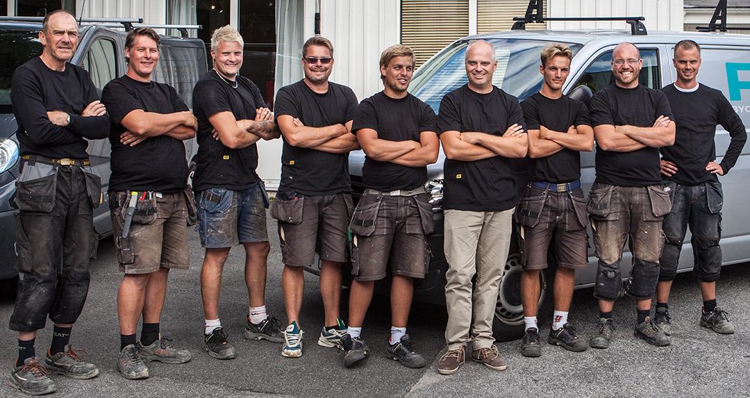 Bild på anställda hos PMB Sverige.