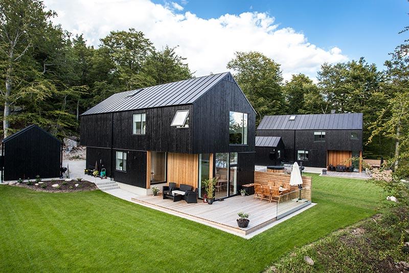 Bild på hus på Tegebruksbacken, byggt av PMB Sverige.