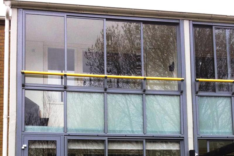 Bild på inglasad balkong i Vellinge. Utfört av PMB Sverige.