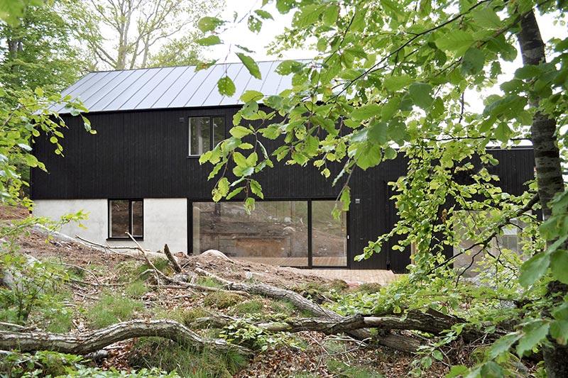 Bild på hus på Tegelbruksbacken, byggt av PMB Sverige.